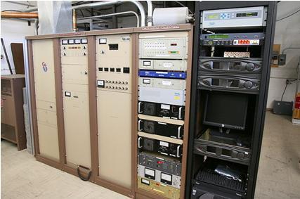 Pupitre d'un émetteur FM de 35kW